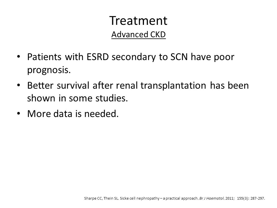 Treatment Advanced CKD