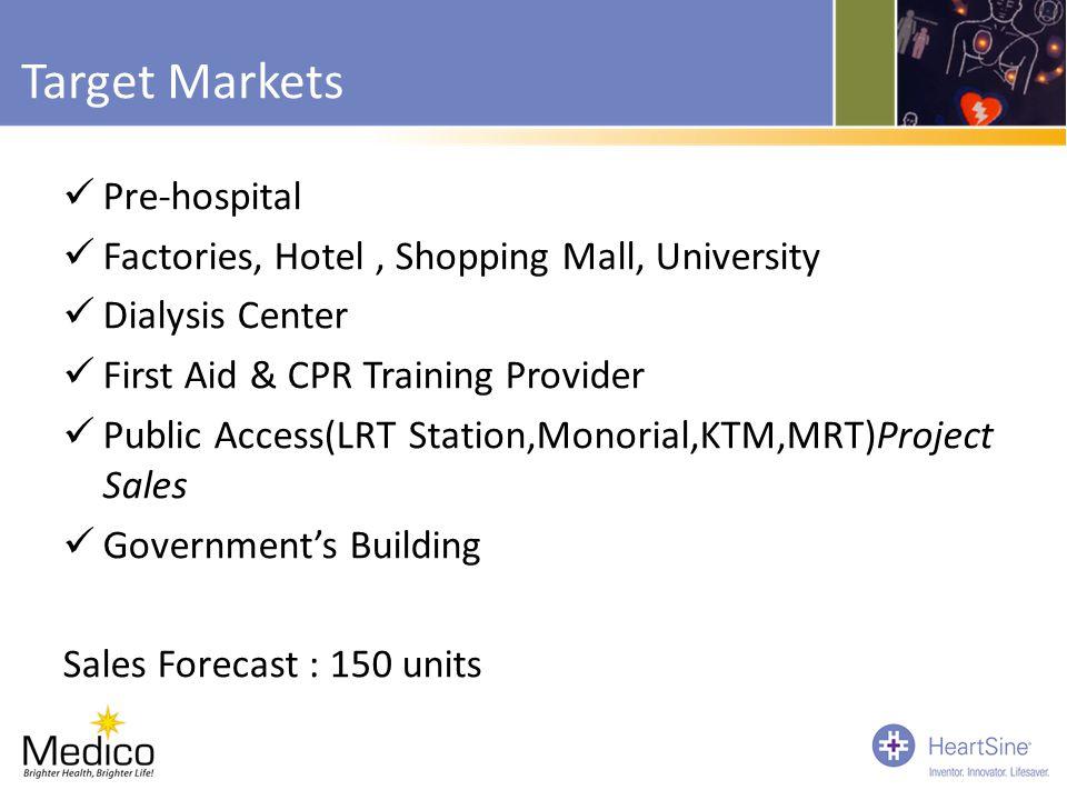 Target Markets Pre-hospital