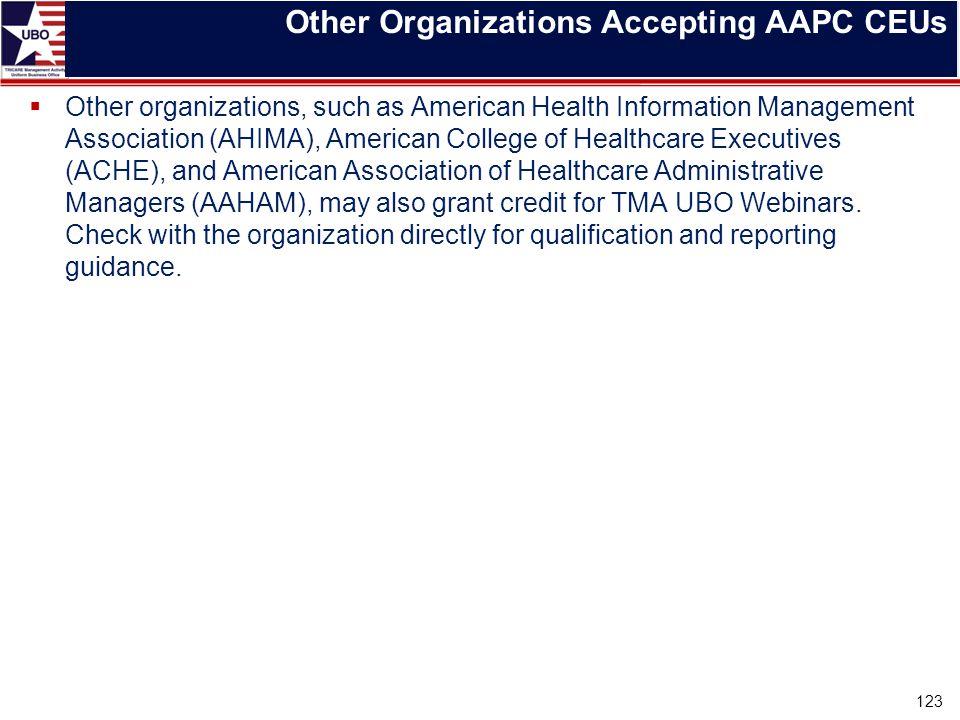 Other Organizations Accepting AAPC CEUs