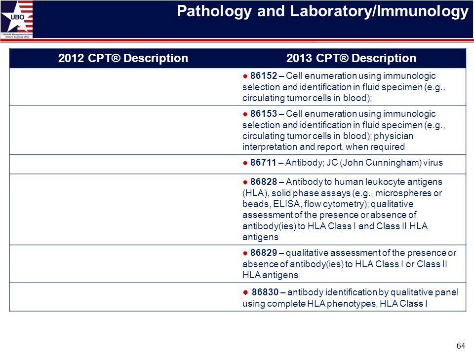 Pathology and Laboratory/Immunology
