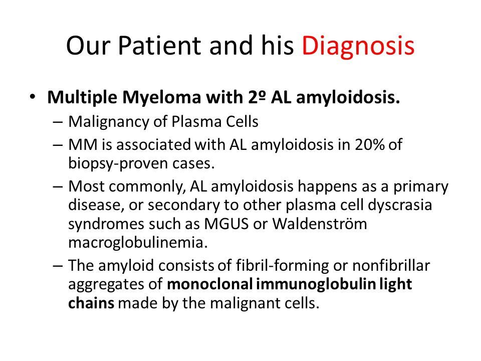 Our Patient and his Diagnosis