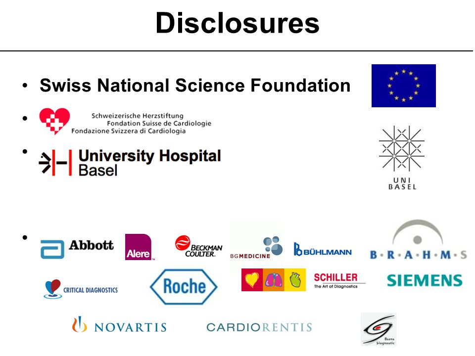 Disclosures Swiss National Science Foundation . ..