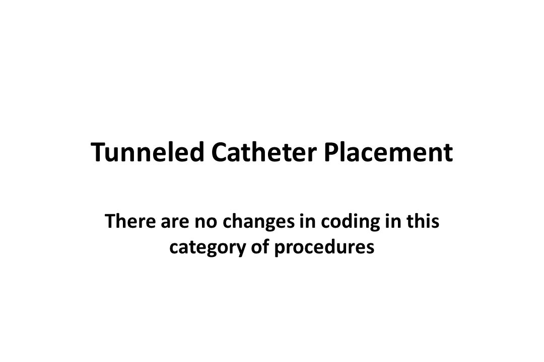 Tunneled Catheter Placement