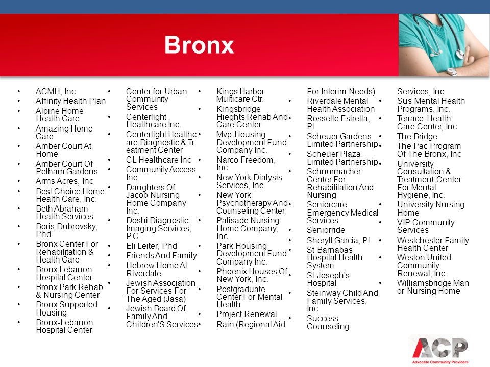 Bronx ACMH, Inc. Center for Urban Community Services