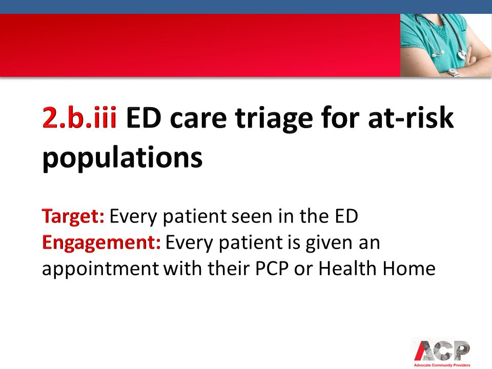 2.b.iii ED care triage for at-risk populations