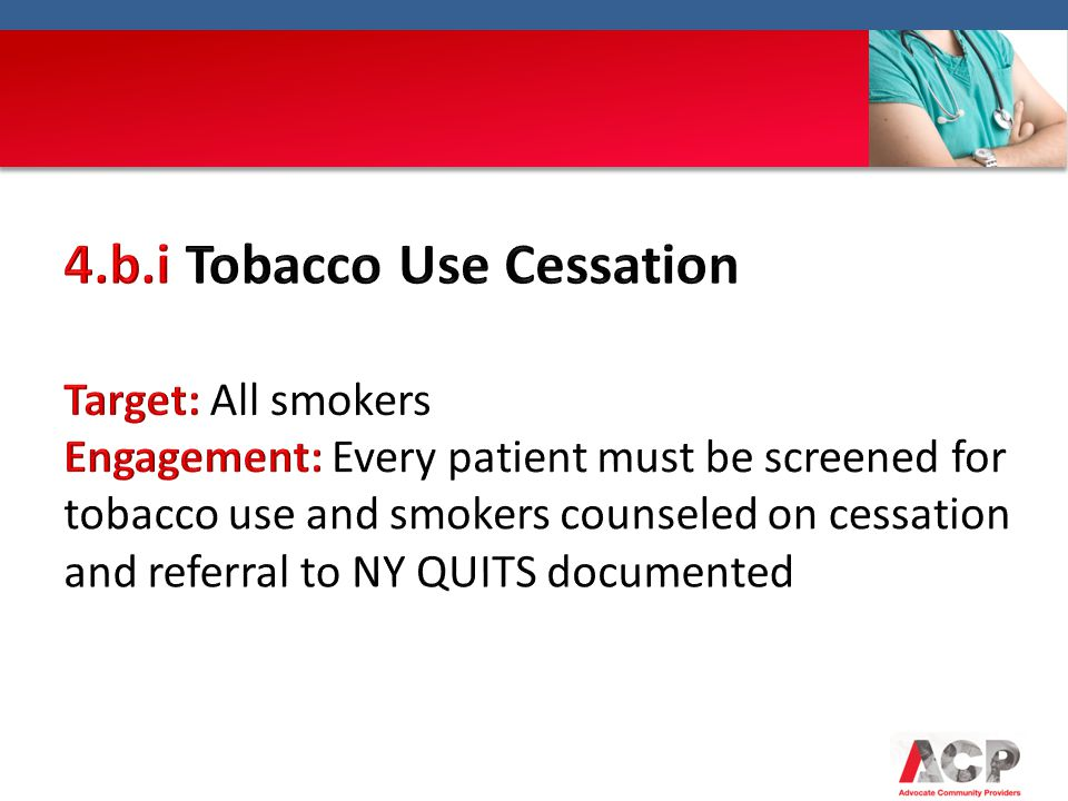 4.b.i Tobacco Use Cessation