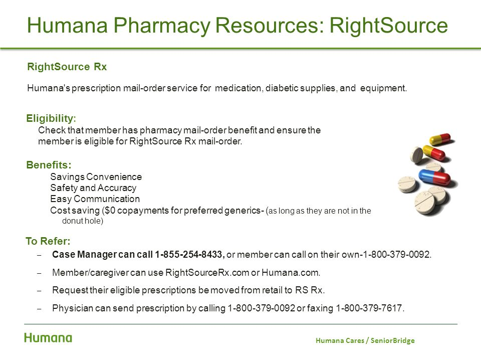 Humana Pharmacy Resources: RightSource