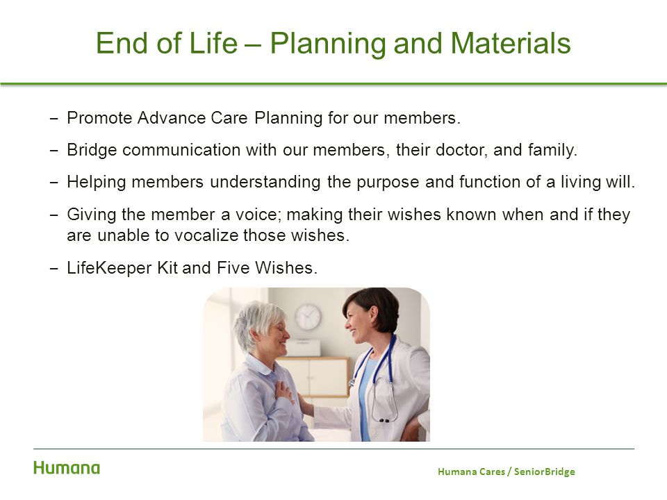 End of Life – Planning and Materials