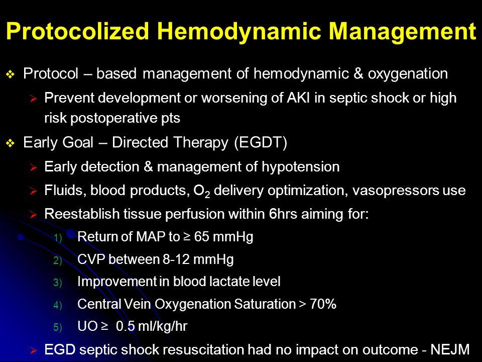 Protocolized Hemodynamic Management