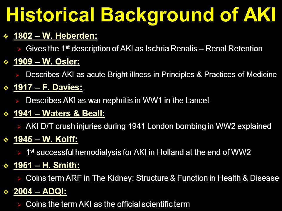 Historical Background of AKI