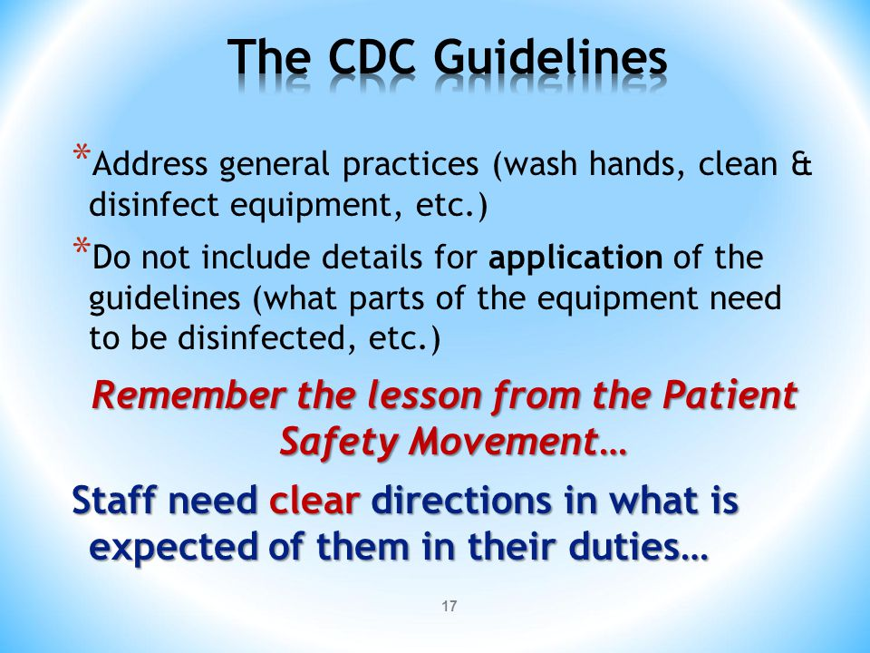 Remember the lesson from the Patient Safety Movement…