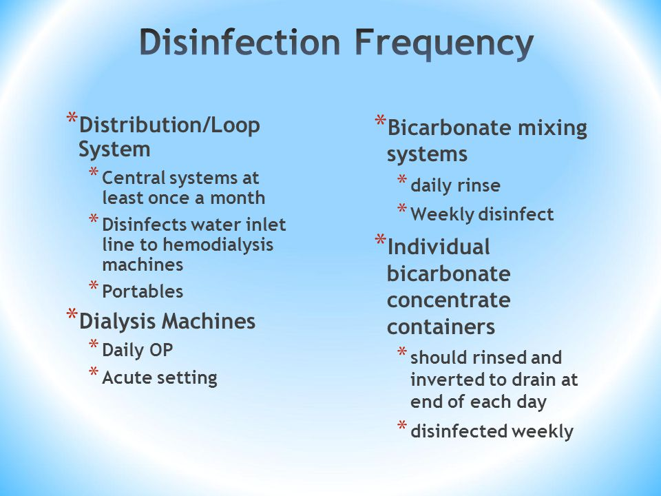 Disinfection Frequency