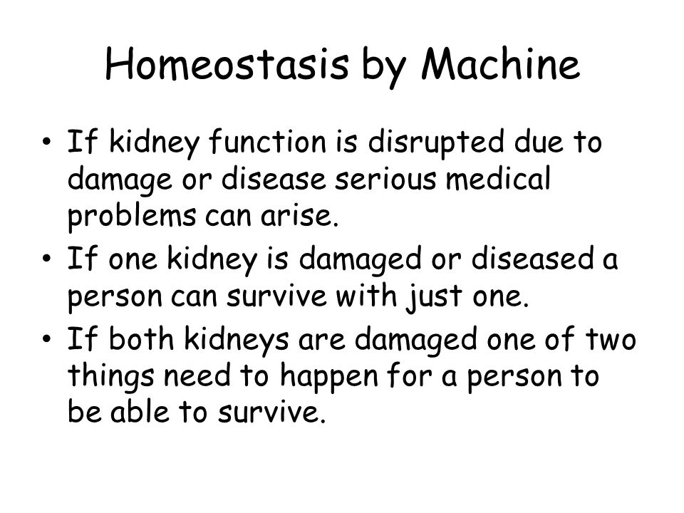 Homeostasis by Machine