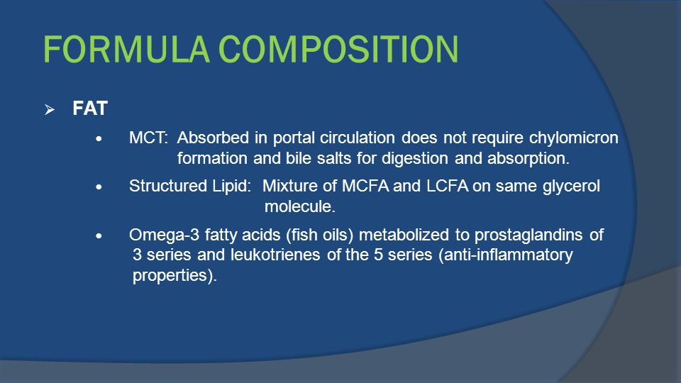 FORMULA COMPOSITION FAT