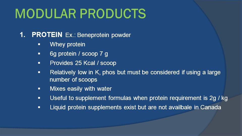 MODULAR PRODUCTS PROTEIN Ex.: Beneprotein powder Whey protein