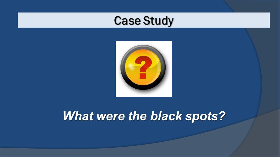 What were the black spots