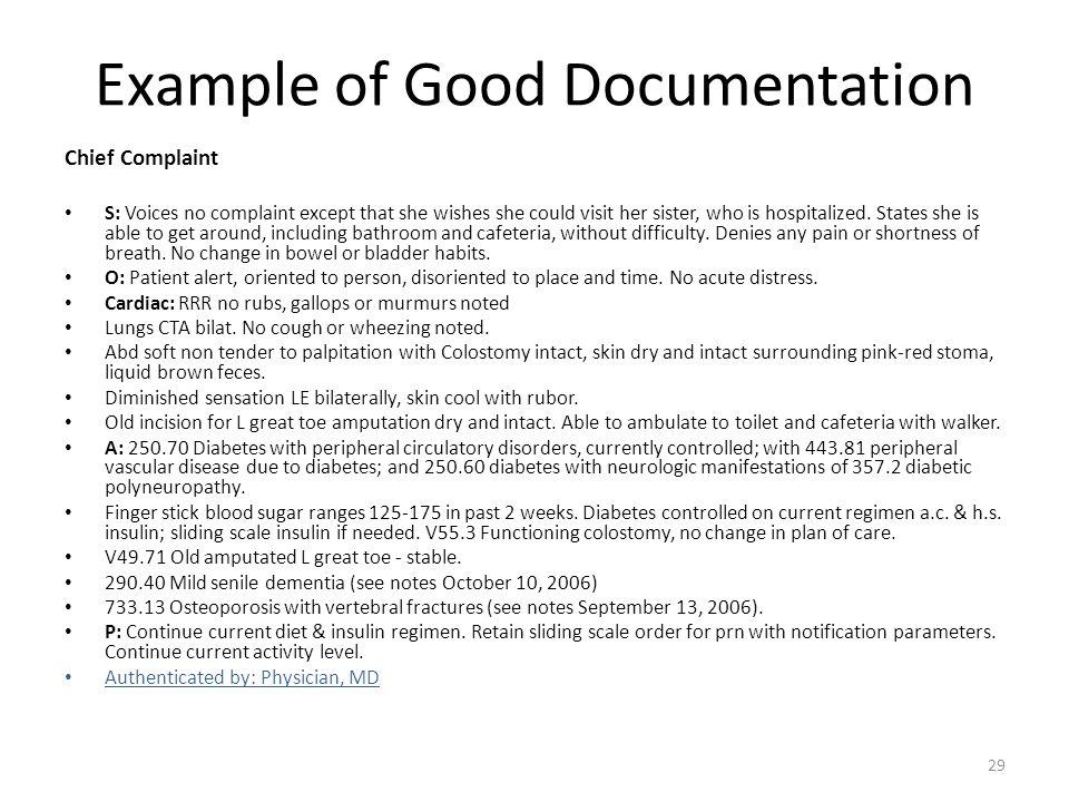 Example of Good Documentation