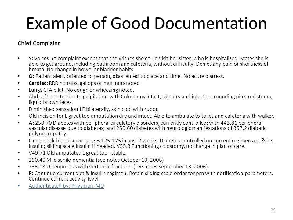 Example of Good Documentation