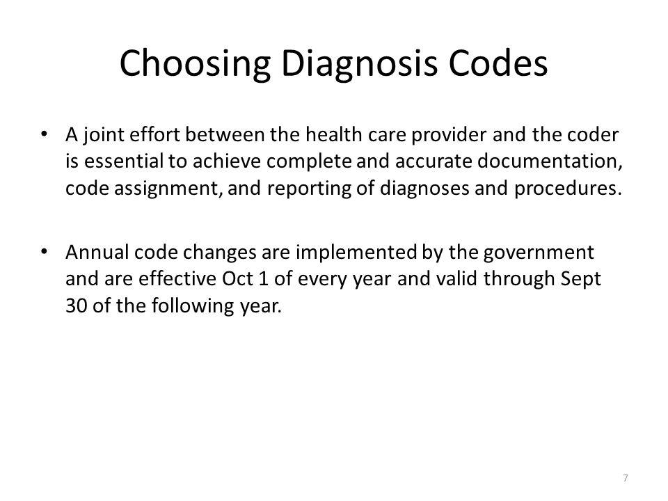 Choosing Diagnosis Codes