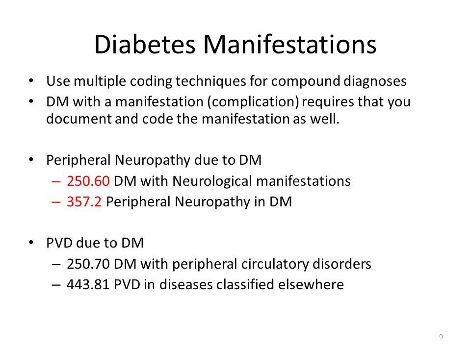 Diabetes Manifestations