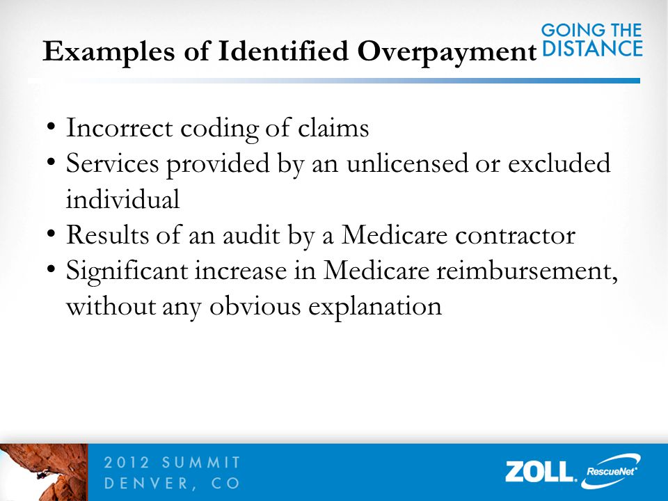 Examples of Identified Overpayment