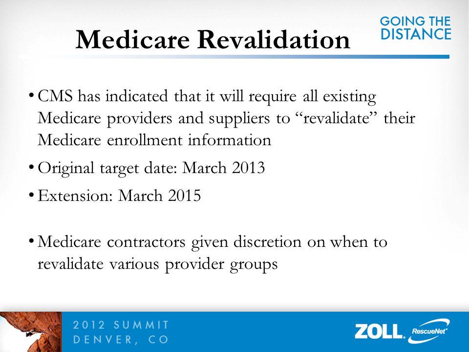 Medicare Revalidation