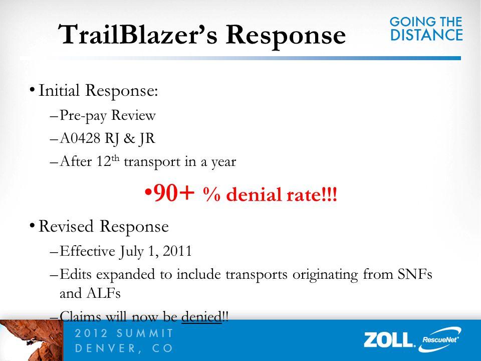 TrailBlazer's Response