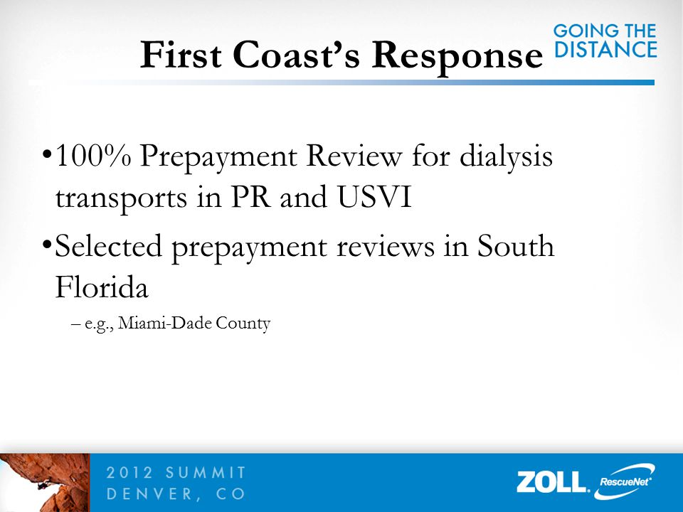 First Coast's Response