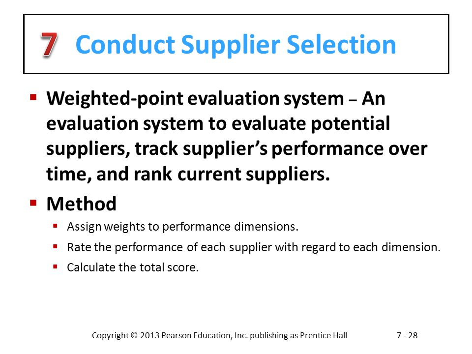 Conduct Supplier Selection