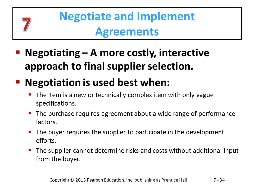 Negotiate and Implement Agreements
