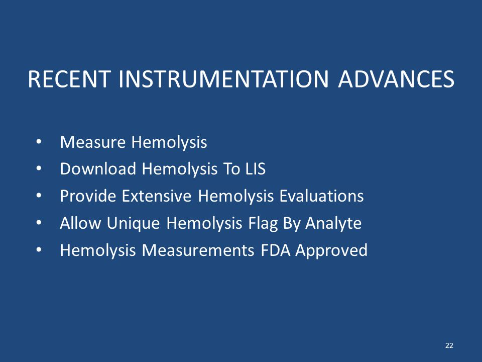 RECENT INSTRUMENTATION ADVANCES