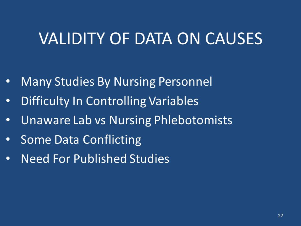 VALIDITY OF DATA ON CAUSES