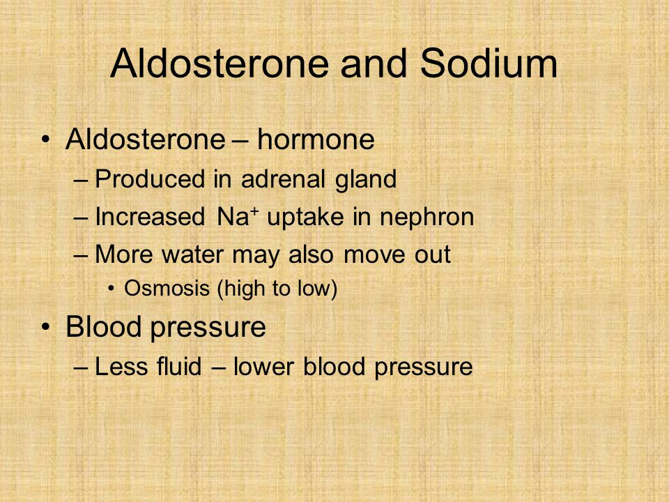 Aldosterone and Sodium