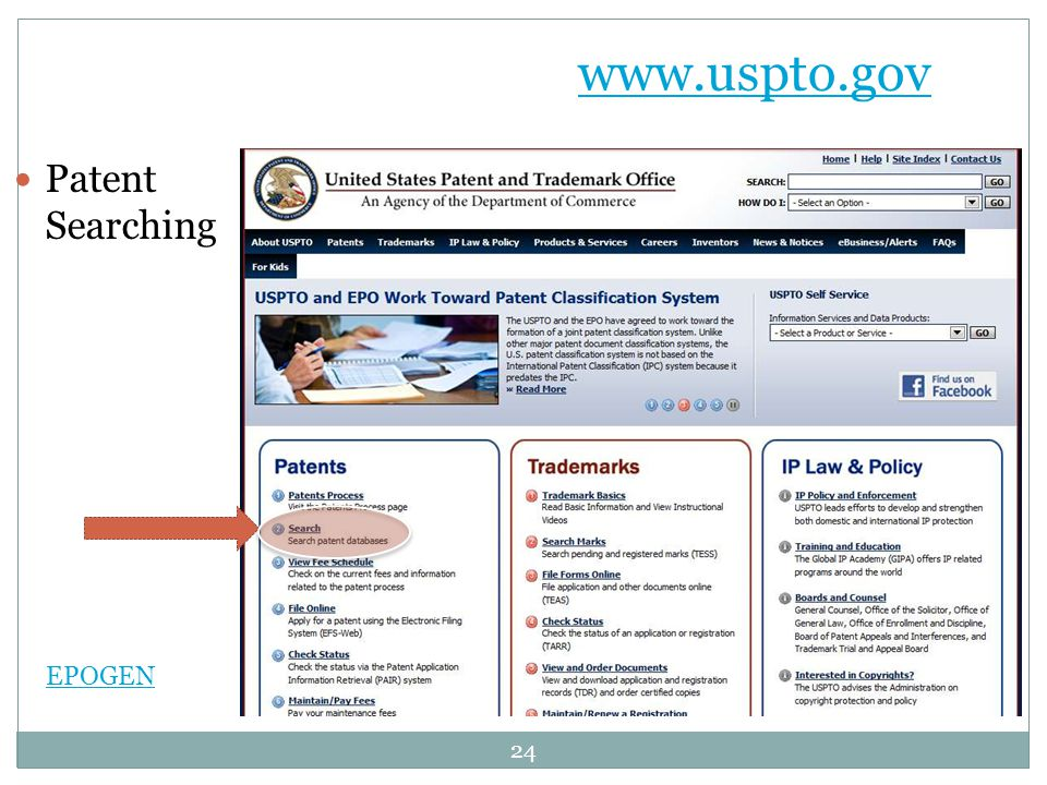 www.uspto.gov Patent Searching EPOGEN