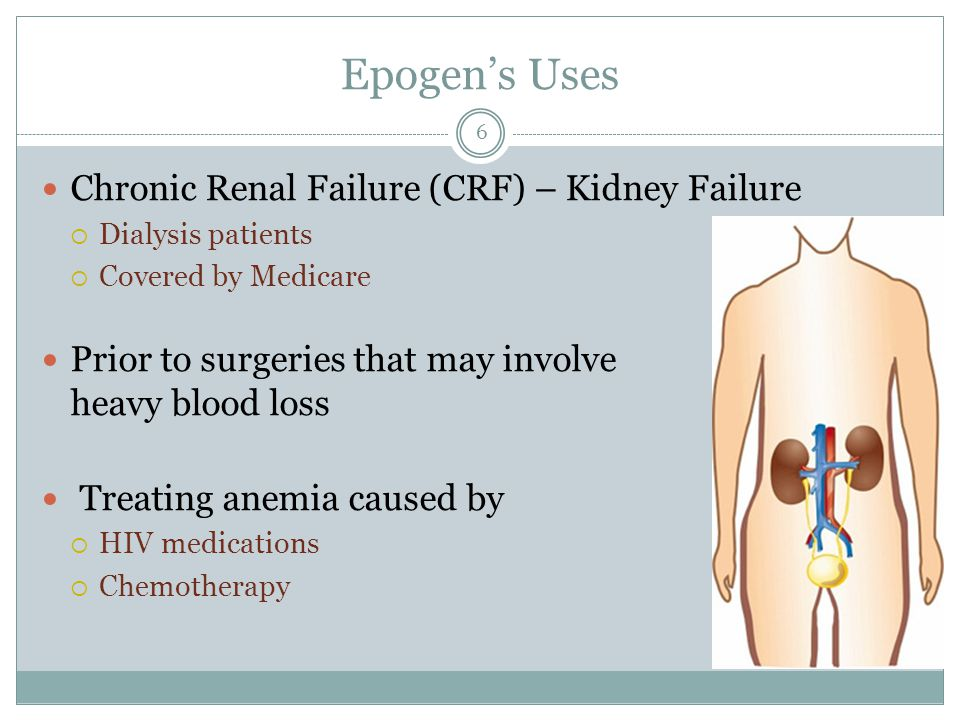 Epogen's Uses Chronic Renal Failure (CRF) – Kidney Failure