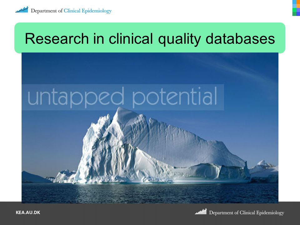 Research in clinical quality databases