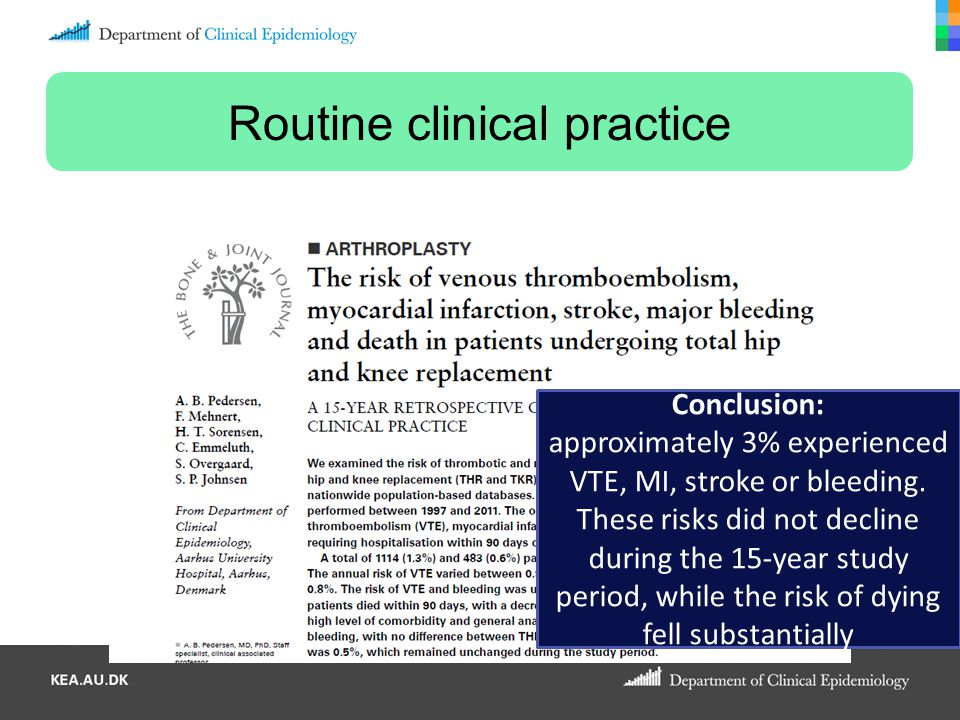 Routine clinical practice