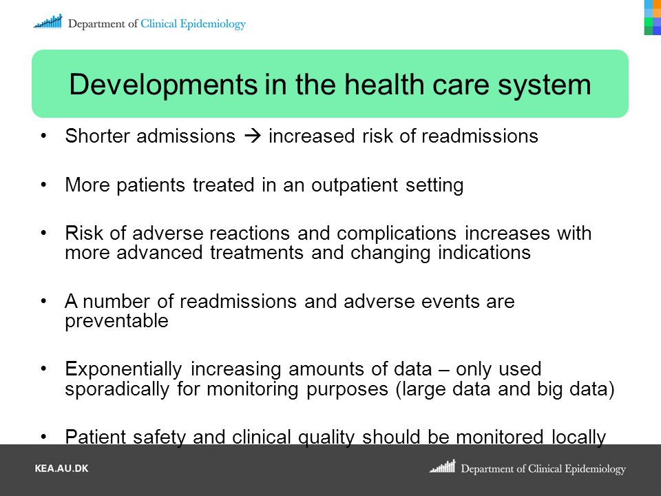 Developments in the health care system