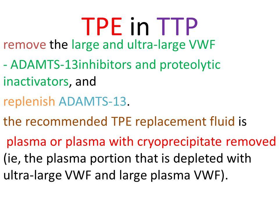 TPE in TTP