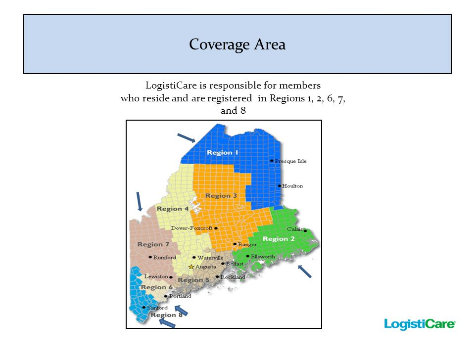 Coverage Area LogistiCare is responsible for members