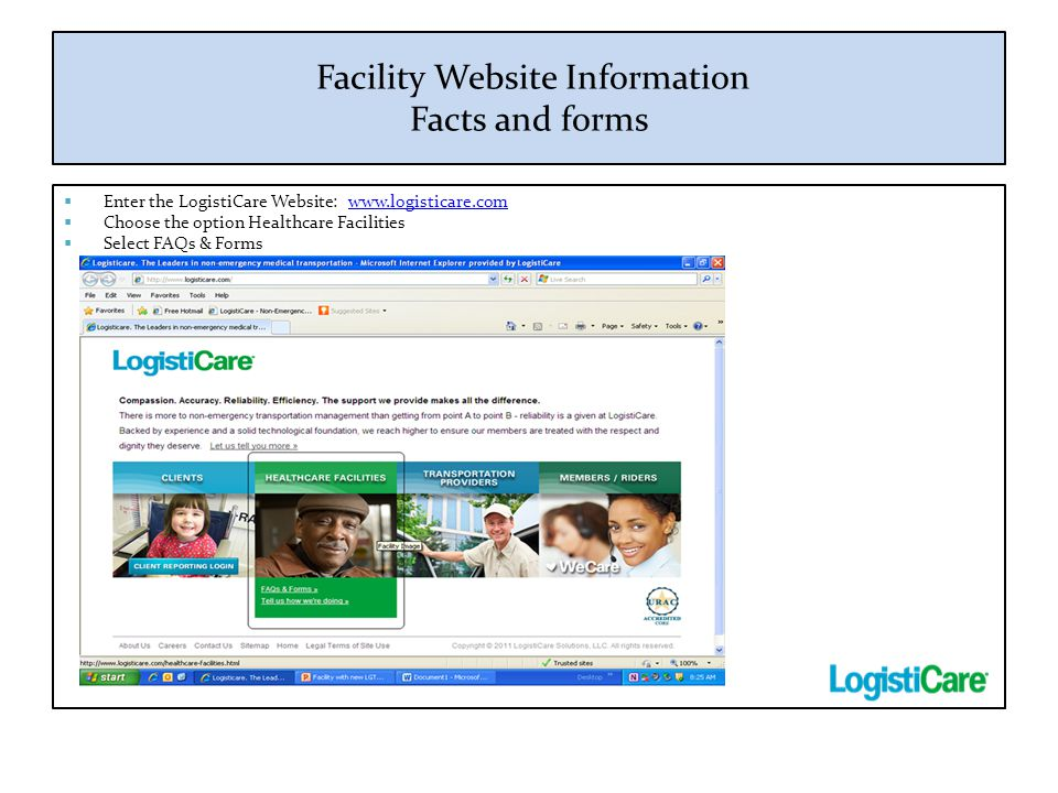 Facility Website Information Facts and forms
