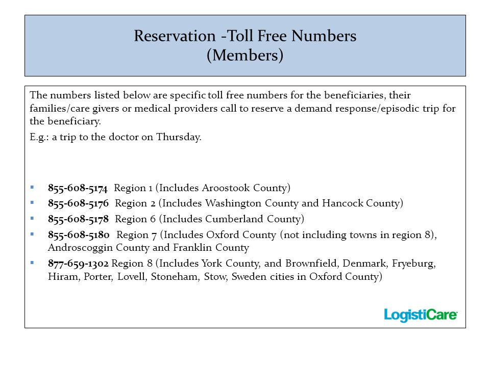 Reservation -Toll Free Numbers (Members)