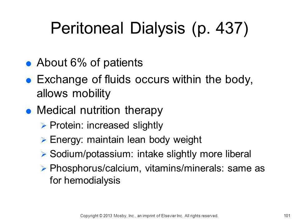 Peritoneal Dialysis (p. 437)