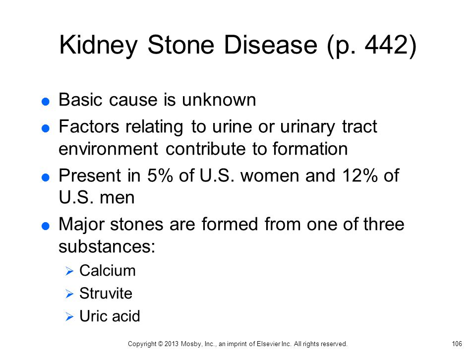Kidney Stone Disease (p. 442)