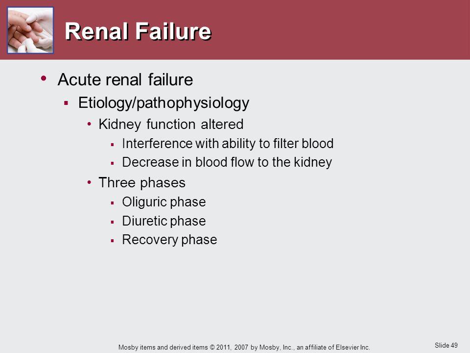 Renal Failure Acute renal failure Etiology/pathophysiology