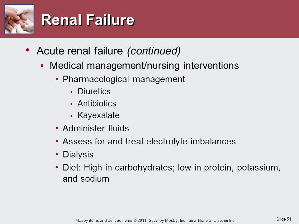 Renal Failure Acute renal failure (continued)