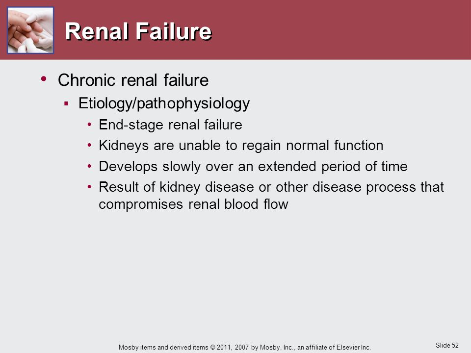Renal Failure Chronic renal failure Etiology/pathophysiology