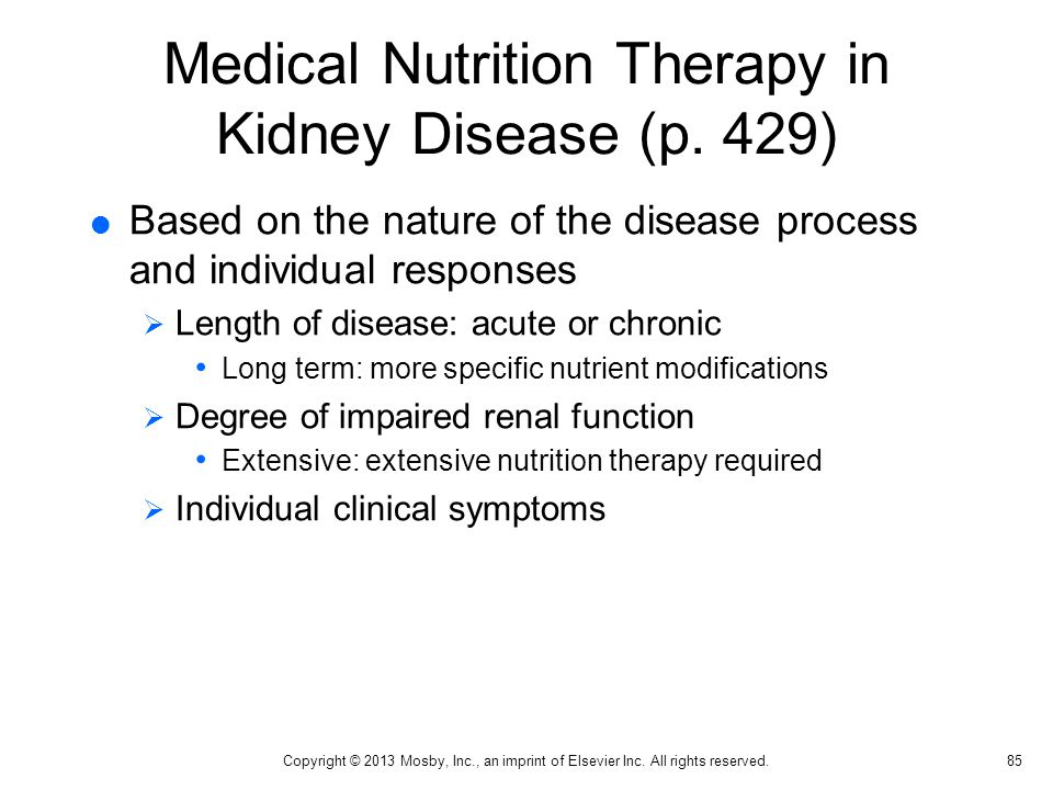 Medical Nutrition Therapy in Kidney Disease (p. 429)