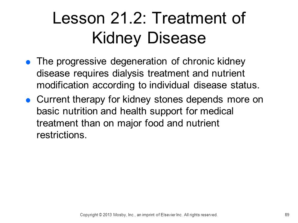 Lesson 21.2: Treatment of Kidney Disease