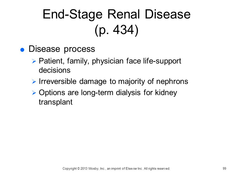 End-Stage Renal Disease (p. 434)